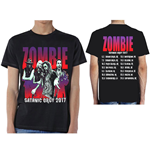 Rob Zombie Men's Tee: Satanic Orgy Tour 2017 (with Back Print)