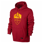 2017-2018 AS Roma Nike Core Hooded Top (Team Red) - Kids