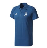 2017-2018 Juventus Adidas 3S Polo Shirt (Blue Night)