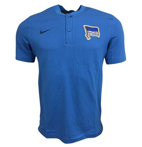 2017-2018 Hertha Berlin Nike Authentic Polo Shirt (Blue)