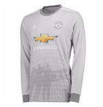 2017-2018 Man Utd Adidas Third Long Sleeve Shirt (Kids)