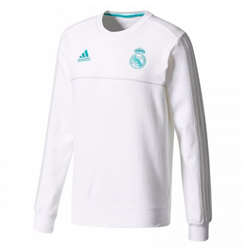 2017-2018 Real Madrid Adidas Sweat Top (White)