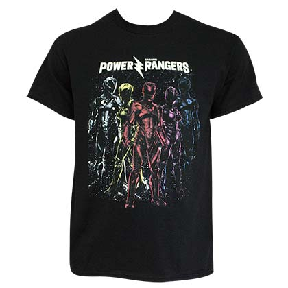 POWER RANGERS Crew Black Tee Shirt