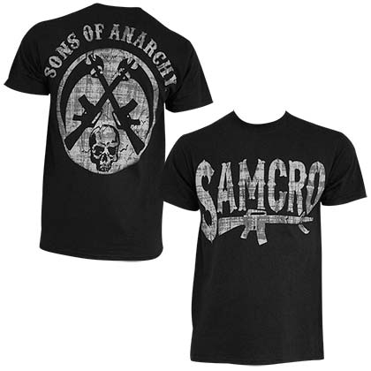 sons of anarchy t shirts official merchandise 2017 18. Black Bedroom Furniture Sets. Home Design Ideas