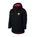 2017-2018 AS Roma Nike Down Fill Jacket (Black)