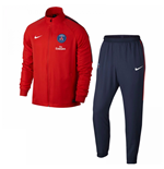 2017-2018 PSG Nike Dry Woven Tracksuit (Red)