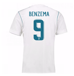 2017-18 Real Madrid Home Shirt - Kids (Benzema 9)