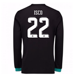 2017-18 Real Madrid Away Long Sleeve Shirt - Kids (Isco 22)