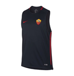 2017-2018 AS Roma Nike Sleeveless Training Shirt (Dark Obsidian)