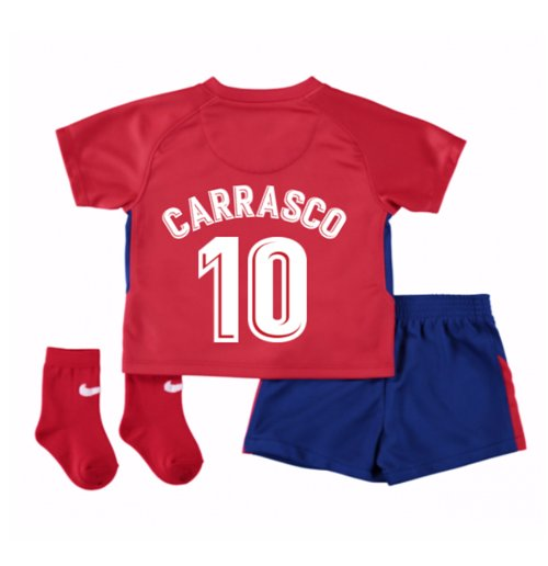2017-2018 Atletico Madrid Home Baby Kit (Carrasco 10)