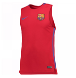 2017-2018 Barcelona Nike Sleeveless Training Shirt (Red)