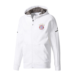 2017-2018 Bayern Munich Adidas Anthem Jacket (White)