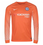 2017-2018 Chelsea Home Nike Goalkeeper Shirt (Orange)