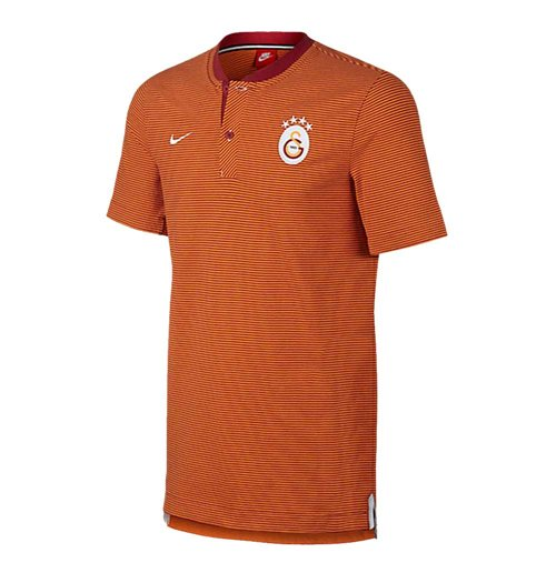 2017-2018 Galatasaray Nike Authentic Grand Slam Polo Shirt (Pepper Red)