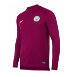 2017-2018 Man City Nike Training Drill Top (True Berry)