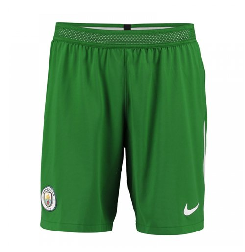 2017-2018 Man City Home Nike Goalkeeper Shorts (Green) - Kids