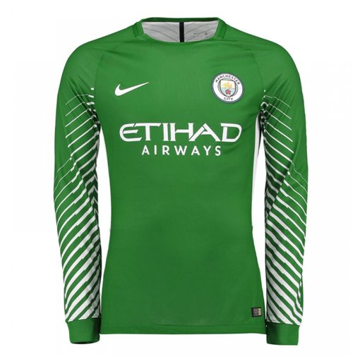 2017 2018 Man City Home Nike Goalkeeper Shirt Green For