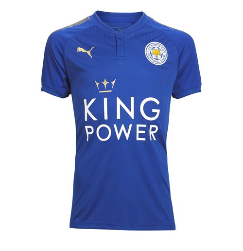 2017-2018 Leicester City Puma Home Football Shirt (Kids)