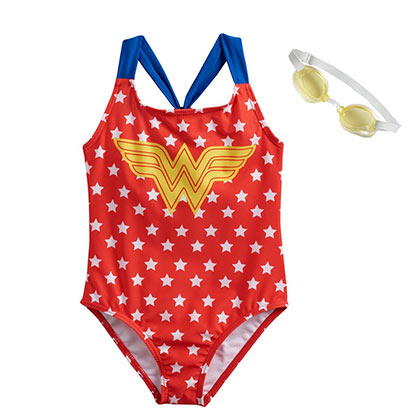 WONDER WOMAN Youth Girl's Swimsuit