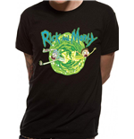 Rick and Morty T-Shirt Black Portal