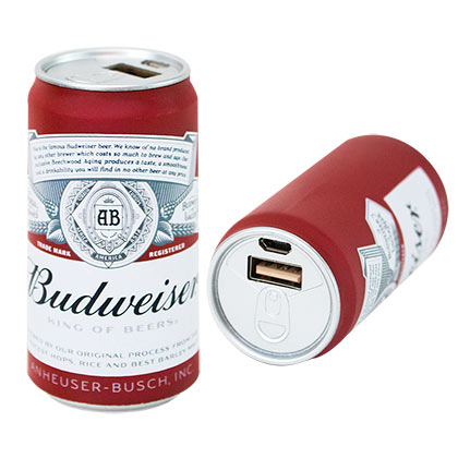 BUDWEISER Can Phone Charging Power Bank