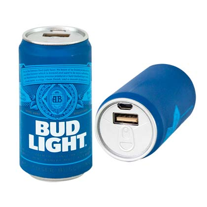 BUD LIGHT Bottle Phone Charging Power Bank