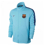 2017-2018 Barcelona Nike Authentic Franchise Jacket (Blue) - Kids