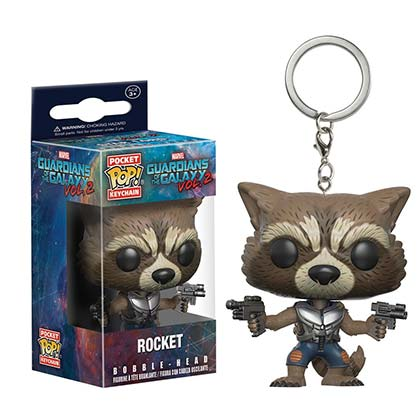 GUARDIANS OF THE GALAXY Rocket Raccoon Funko Pop Keychain