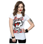 5 Seconds of Summer Ladies Tee: Red Skull