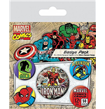 Marvel Retro Badge Pack - Iron Man