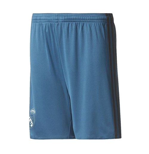 2017-2018 Real Madrid Adidas Third Shorts (Blue) - Kids