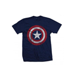 Marvel Comics Mens Tee: Captain America Shield Distressed