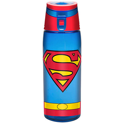 SUPERMAN Travel Water Bottle With Loop