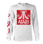Atari Long Sleeves T-shirt Box Logo White