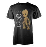 Marvel Guardians Of The Galaxy Vol 2 T-shirt I Am Groot Scribbles