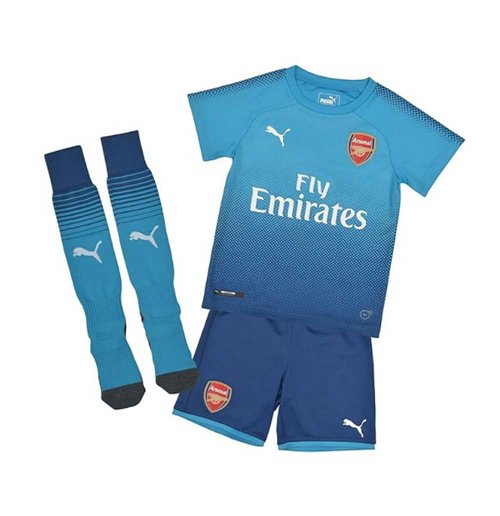 2017-2018 Arsenal Away Little Boys Mini Kit