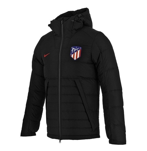 2017-2018 Atletico Madrid Nike Down Fill Jacket (Black)