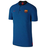 2017-2018 Barcelona Nike Authentic Polo Shirt (Black-Anthacite)