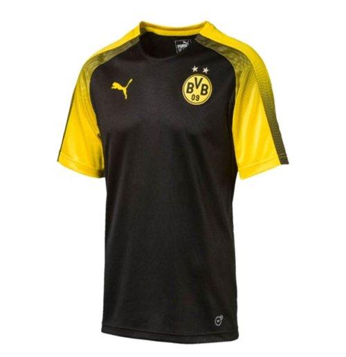 new styles 93e3a b616f 2017-2018 Borussia Dortmund Puma Stadium Shirt (Black)