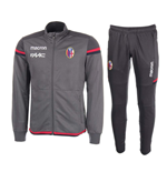 2017-2018 Bologna Macron Poly Travel Tracksuit (Grey)