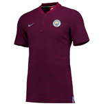 2017-2018 Man City Nike Authentic Grand Slam Polo Shirt (True Berry)