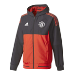2017-2018 Man Utd Adidas UCL Presentation Jacket (Red)