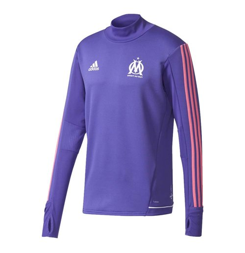 sports shoes ec1c7 c7429 2017-2018 Marseille Adidas Training Top (Energy Ink)