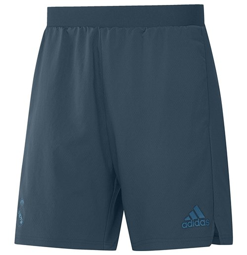2017-2018 Real Madrid Adidas Training Shorts (Petrol Night)