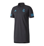 2017-2018 Real Madrid Adidas EU Polo Shirt (Black)