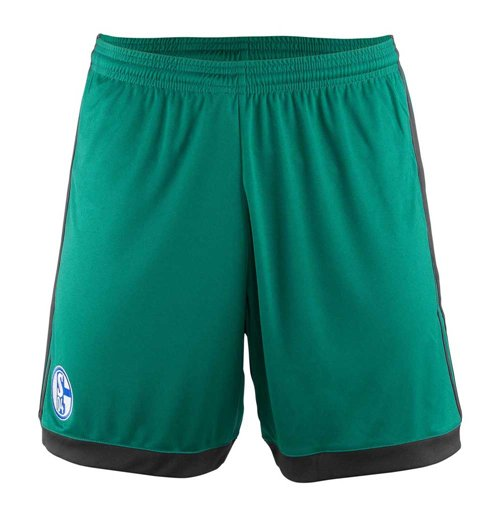 2017-2018 Schalke Adidas Third Shorts (Green) - Kids