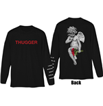 Young Thug Men's Long Sleeved Tee: Thugger Angel (Back & Sleeve Print)