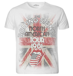 The Rolling Stones Men's Tee: North American Tour 1981 with Sublimation Printing