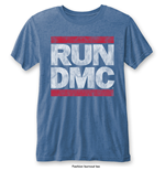 Run DMC Men's Fashion Tee: Vintage Logo with Burn Out Finishing