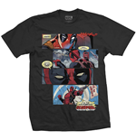 Marvel Comics Men's Tee: Tee: Deadpool Strips